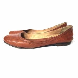Frye Carson Ballet Flats Shoes 8.5 Brown Leather